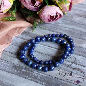 Lápisz lazuli ásvány karkötő, választható méret
