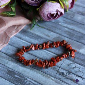 Vörös jáspis szemcse ásvány karkötő - vörös jáspis ékszerek az AngyalKövek oldalán