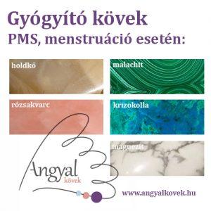PMS, menzesz esetén gyógyító kövek, kristálygyógyászat