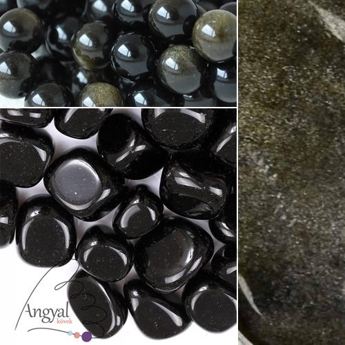 Obszidián ásvány gyógyhatása - obszidián ékszerek az AngyalKövek oldalán