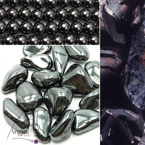 Hematit ásvány gyógyhatása - hematit ékszerek az AngyalKövek oldalán