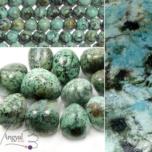 Afrikai türkiz ásvány és formái az AngyalKovek.hu oldalon
