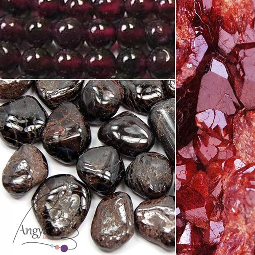 Gránát ásvány fajtái az AngyalKovek.hu oldalon