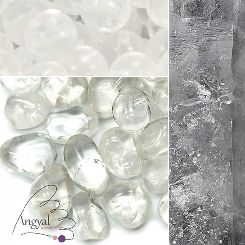 Hegyikristály ásvány formái az AngyalKovek.hu oldalon