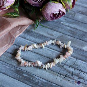 Rózsaopál szemcse karkötő