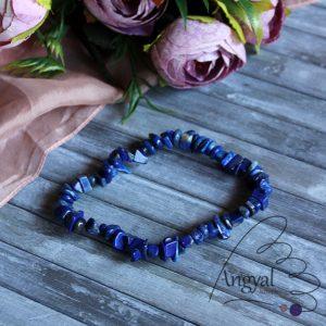 Lápisz lazuli szemcse karkötő