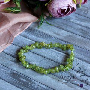 Peridot ásvány karkötő - peridot, olivin ékszerek az AngyalKövek oldalán