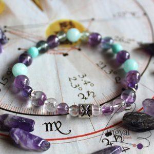 Horoszkóp ásvány karkötő, Halak