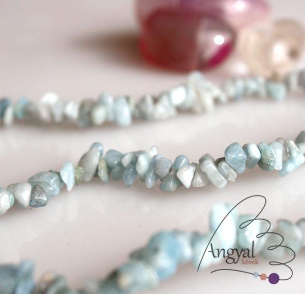 Akvamarin szemcse ásvány nyaklánc