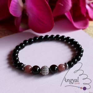 """Afrodisia"" ásvány karkötő - rubin, gránát, ónix"