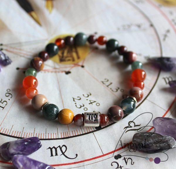 Horoszkóp ásvány karkötő, Szűz