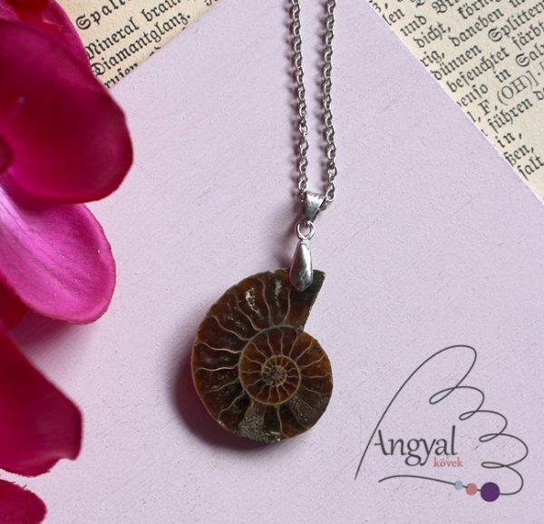 Ammonitesz fosszília medál