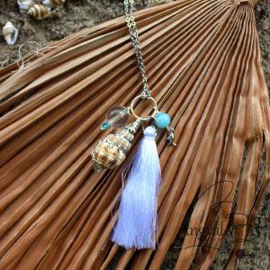 Bohém bojtos nyaklánc a tenger színeivel – 2019 nyári kollekció, LAGUNA