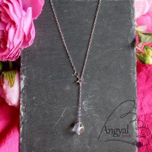 Aurakvarc ásványos nyaklánc