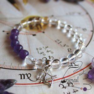 Horoszkóp medálos karkötő - Nyilas, ametiszt