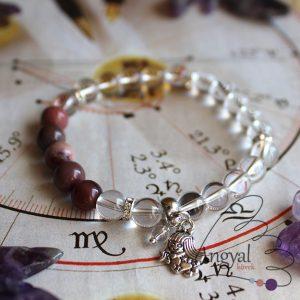 Horoszkóp medálos karkötő - Szűz, mokait