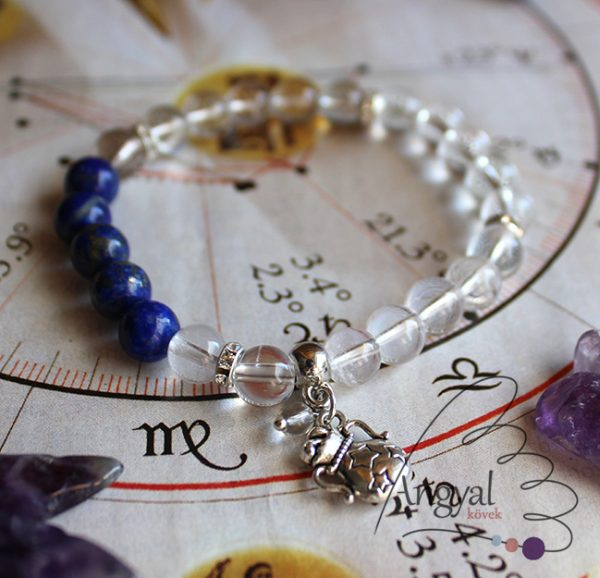 Horoszkóp medálos karkötő - Vízöntő, lápisz