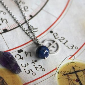 Horoszkóp medálos nemesacél nyaklánc - Nyilas, lápisz