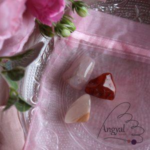 """Marokkő készlet - """"Nőiesség"""" (karneol, rózsakvarc, holdkő)"""