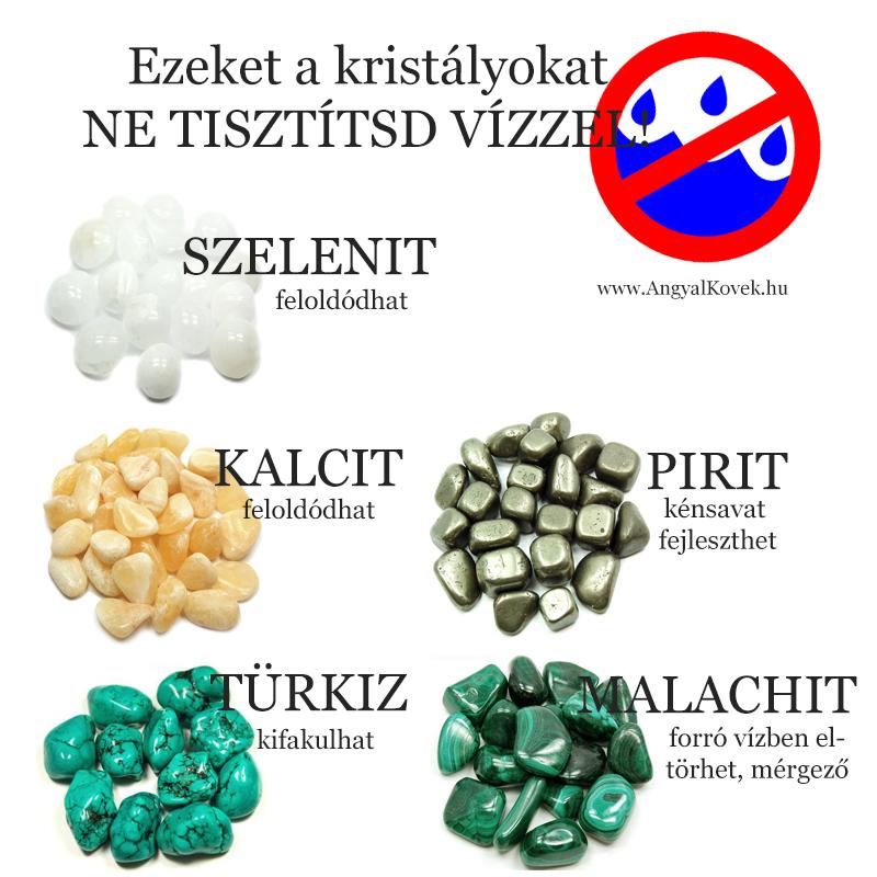 Ezeket az ásványokat ne tisztítsd vízzel!