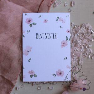 Testvér ajándékkísérő kártya