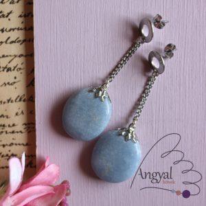 Angelit egyedi ásvány fülbevaló
