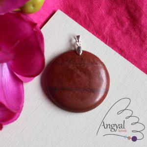 Vörös jáspis ásvány medál