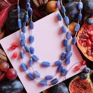 Háromsoros zafír nyaklánc - 2021 ősz